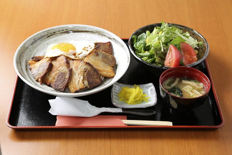 炙りチャーシュー丼定食